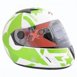 Vega Axor A1 Force White Base Green Graphic Helmet - (SB-081)
