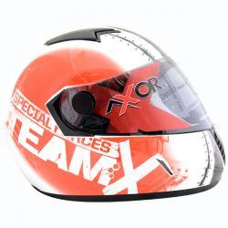Axor Helmet - Team X (White Red Graphic) - (SB-087)