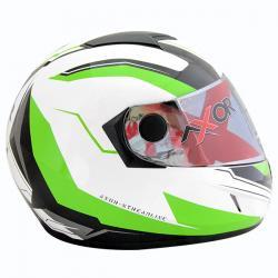 Axor A1 Streamline White Green Graphic Helmet - (SB-092)