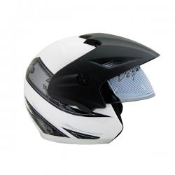 Vega Cruiser Open Face Graphic Helmet with Peak Arrows - (SB-098)