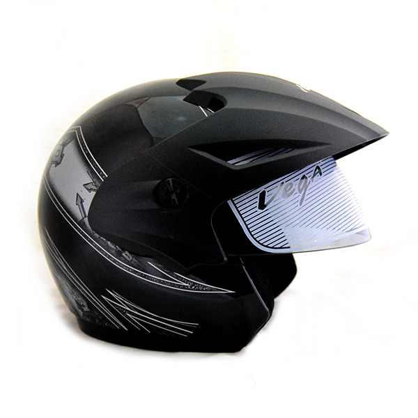 8459fb58 Vega Cruiser Open Face Graphic Helmet with Peak Arrows - (SB-099) by ...