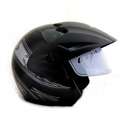 Vega Cruiser Open Face Graphic Helmet with Peak Arrows - (SB-099)