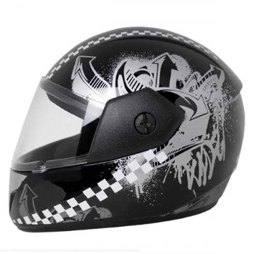 Vega Cliff Urban Black Silver Helmet - (SB-102)