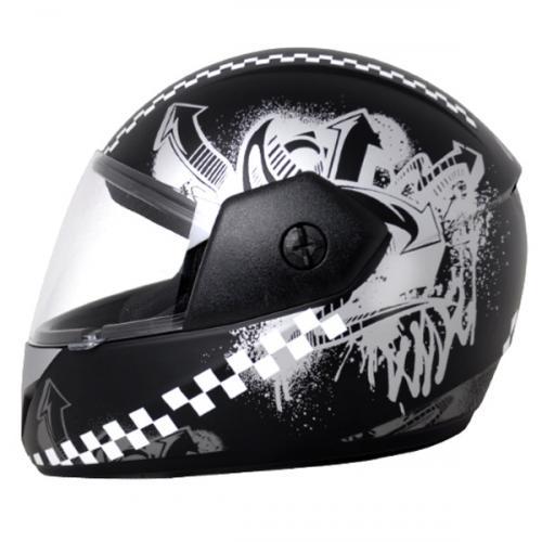 Vega Cliff Urban Dull Black Silver Helmet - (SB-103)