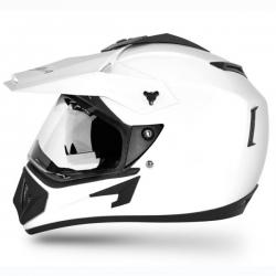 Vega Off Road D/V White Helmet - (SB-104)