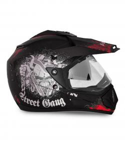 Vega Off Road Gangster Full Face Helmet - (SB-107)
