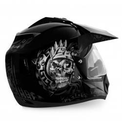 Vega Off Road Ranger Black Silver Helmet - (SB-108)