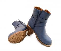 Navy Blue Boot With Zipper For Kids - (SB-125)