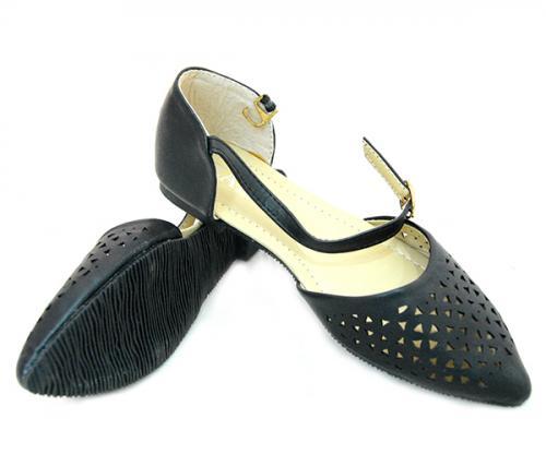 Black Flat Sandal For Kids - (SB-134)
