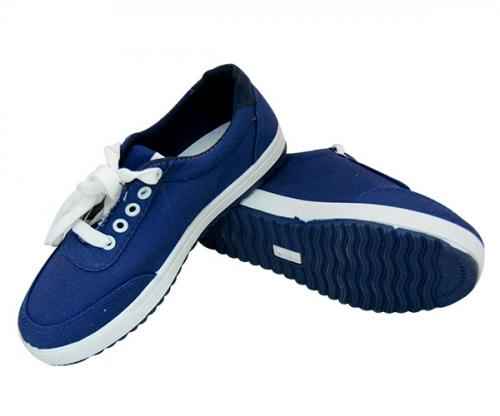 Blue Lace Up Shoes For Ladies - (SB-145)