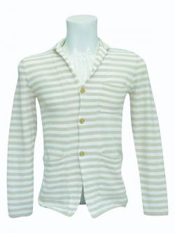 White Striped Outer With Buttons - (SB-159)