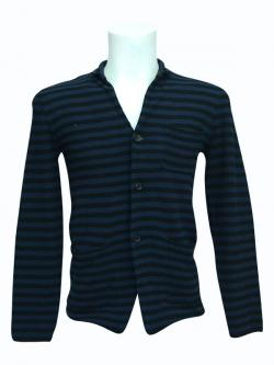 White Striped Outer With Buttons - (SB-160)