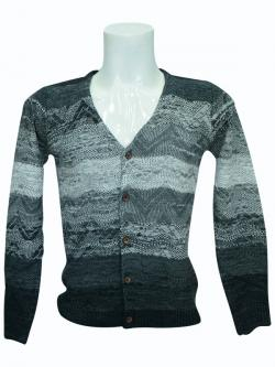 Grey Zig-Zag Pattern Sweater - (SB-164)