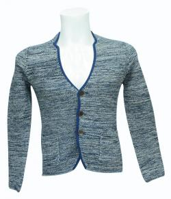 Coat Style Sweater With Pockets - (SB-163)