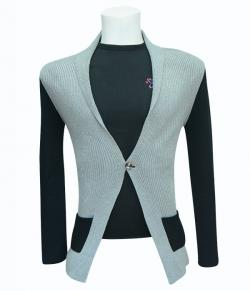 Grey Coat Style Sweater - (SB-165)