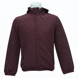 Maroon Windproof Jacket With Fur - (SB-173)