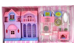 Happy Family Pink House With Music & Lights - (HH-086)