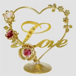 Crystocraft Gold Plated Love Showpiece - (ARCH-081)