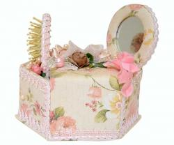 Floral Jewellery Box With Mirror - (ARCH-082)