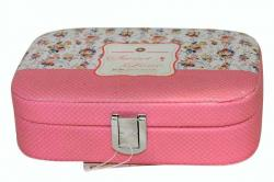 Pink Jewellery Box with Mirror - (ARCH-083)