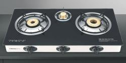 Homeglory 3 Burner Glass Top Gas Stove - (HG-GS303)