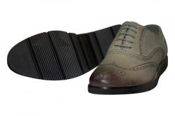 Grey Oxford Shoes For Men - (SB-196)