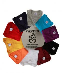 Yantra Plain T-Shirt - 100% Cotton - (TP-703)