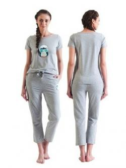 Bwitch City Penguin Pyjama - (BW598-City Penguin-Grey)