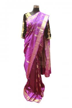 Dark Purple Saree - (AE-045)