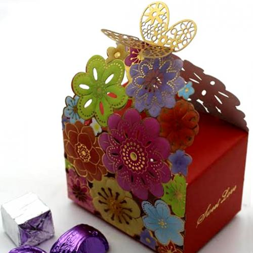 Red Floral Chocolate Pack - 10 pcs - (TCG-038)