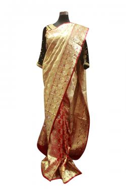 Red & Golden Bridal Banarasi Saree - (AE-051)