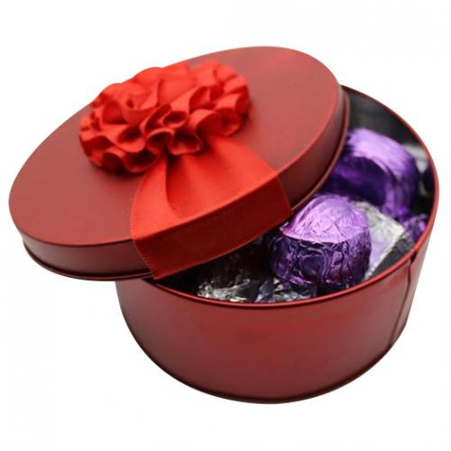 Red Rond Metal Box - 10 pcs - (TCG-039)