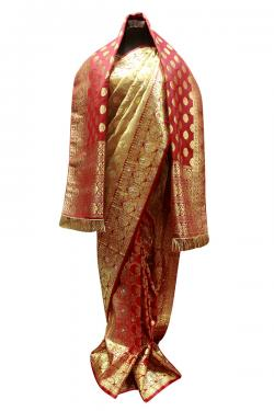 Red & Golden Bridal Banarasi Saree - (AE-052)