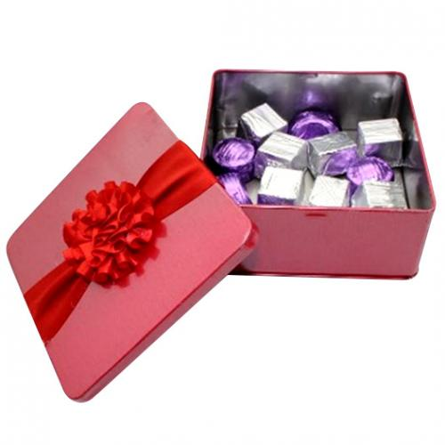 Red Square Metal Box - 15 pcs - (TCG-040)