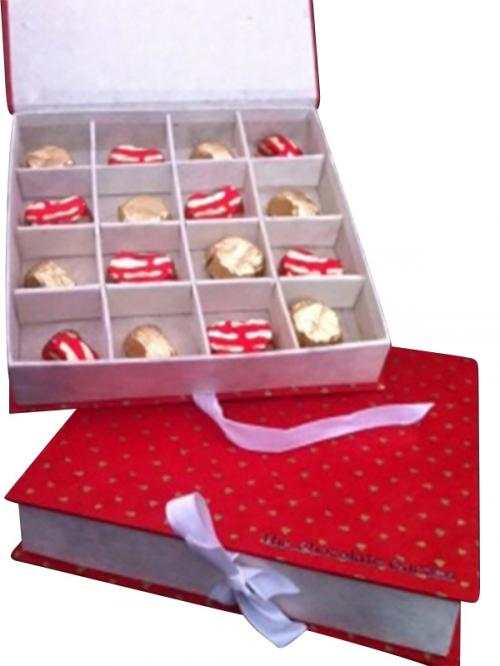 Red Chocolate Box - 16 pcs - (TCG-022)