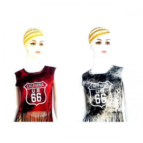 Sleeveless California T-Shirt For Ladies - (SB-184)