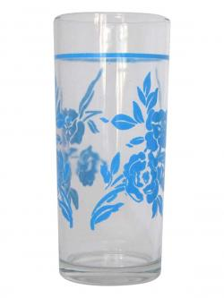 Flower Printed Juice Glass - (TP-647)