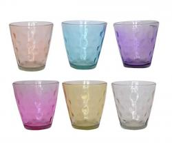 Colorful Water Glass - 6 pcs - (TP-653)