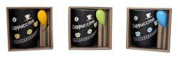 Cappuccino Printed Ceramic Mug With Spoon - Per Piece - (TP-654)