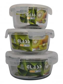 Round Oven Container Set - (TP-672)