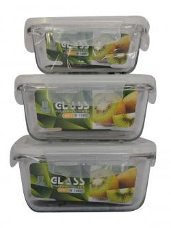 Square Oven Container Set - (TP-674)