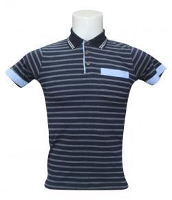 Striped Half Sleeved Polo T-Shirt For Men - (SB-197)