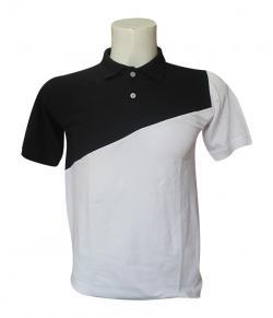 Black & White Contrast Polo T-Shirt - (SB-199)