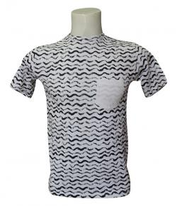 Allover Printed T-Shirt With Pocket - (SB-200)