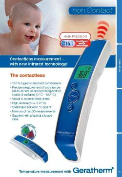 Geratherm Non Contact Infrared Thermometer