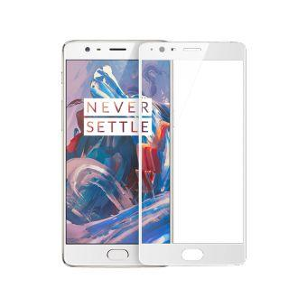 Temper Glass For One Plus 3 - White