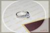 Silver Platinum ring with Zircon