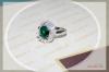 Silver Platinum Ring with Petal design