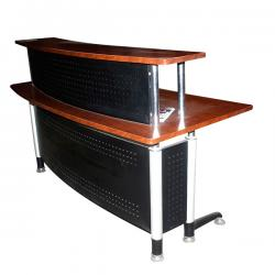 Wooden Small Circular Reception Desk - (FL2-061)