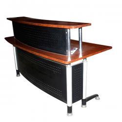 Wooden Small Circular Reception Desk - (FL2-061)